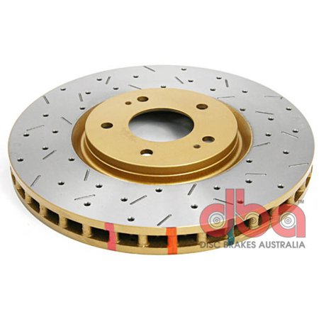 DBA 03-05 Evo 8/9 Front Drilled & Slotted 4000 Series Rotor