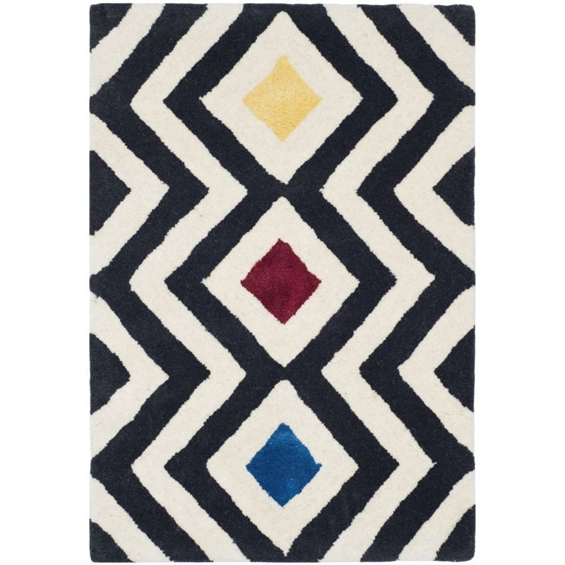 "Safavieh Soho 7'6"" X 9'6"" Hand Tufted Wool Rug in Beige and Charcoal - image 10 de 10"