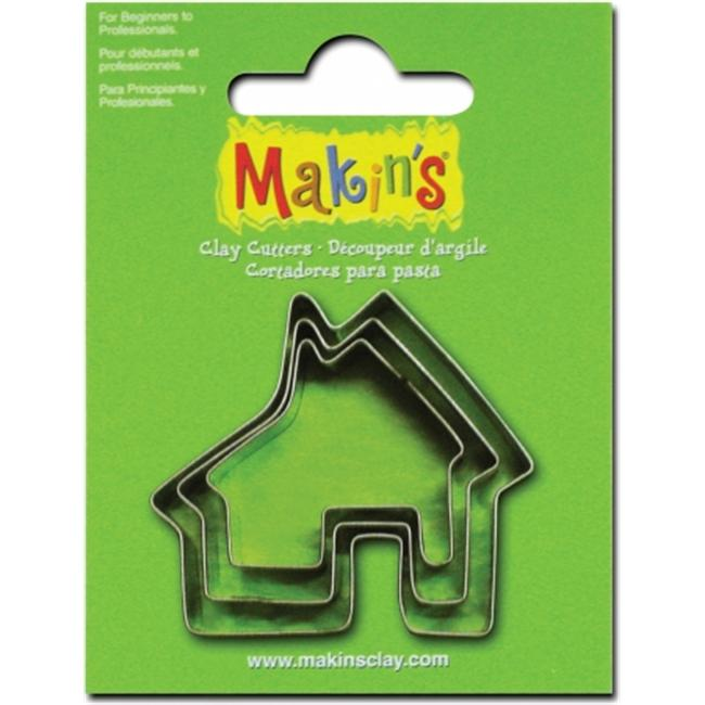 Makins USA 159302 Makins Clay Cutters 3-Pkg-House