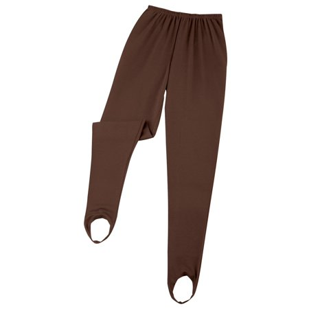 Women's Classic Tapered Leg Stirrup Pants, Xx-Large, Brown  - Made in the USA Black Baseball Stirrup