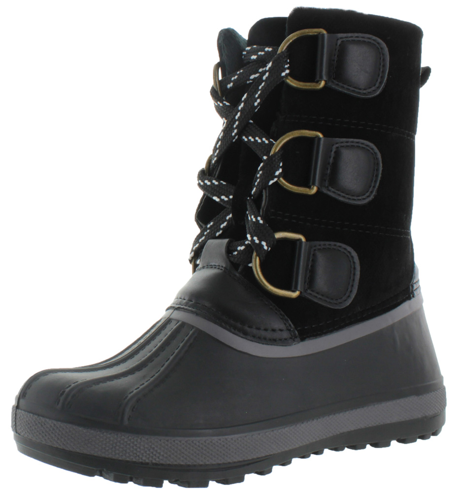 Moda Essentials Womens Cold Weather Duck Toe Snow Boots Mukluk Booties