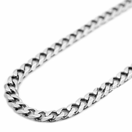 14K White Gold Mens 3MM Cuban Link Bracelets (8) ()