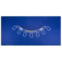 "Brybelly Blackjack Blue Casino Gaming Table Felt Layout, 36"" x 72"""