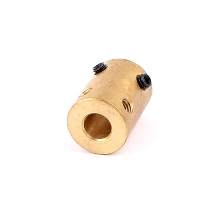 7mm to 7mm Copper DIY Motor Shaft Coupling Joint Adapter f Electric Car - Motor Shaft Coupling