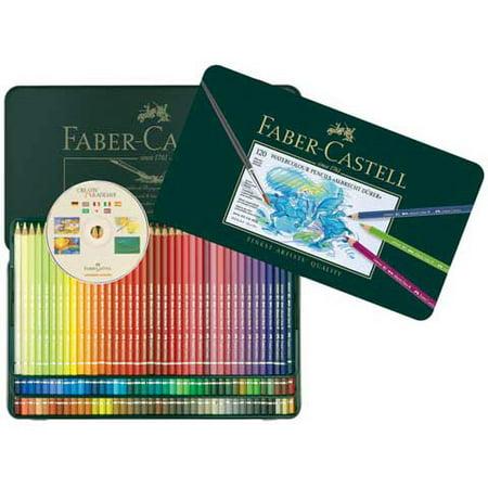 Faber-Castell - Albrecht Durer Watercolor Pencil Set - 60-Pencil Tin (Best Faber Castell Coloring Pencils For Adult Coloring Books)