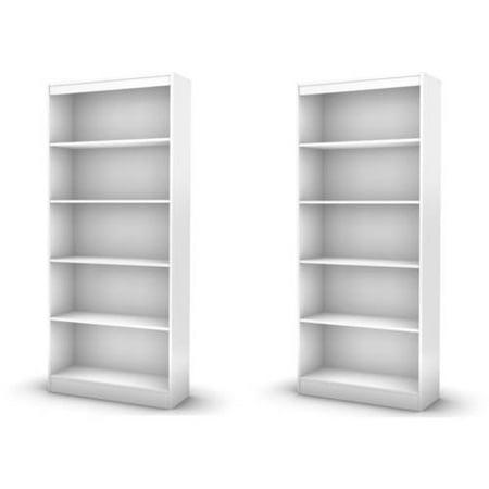 South Shore Smart Basics 5-Shelf Bookcase Value Bundle, Multiple Finishes (Mix and Match)