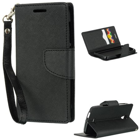 Alcatel LPFALCPOP-DIARY-BKBK One Touch Pop Astro Diary Wallet Case with Black &