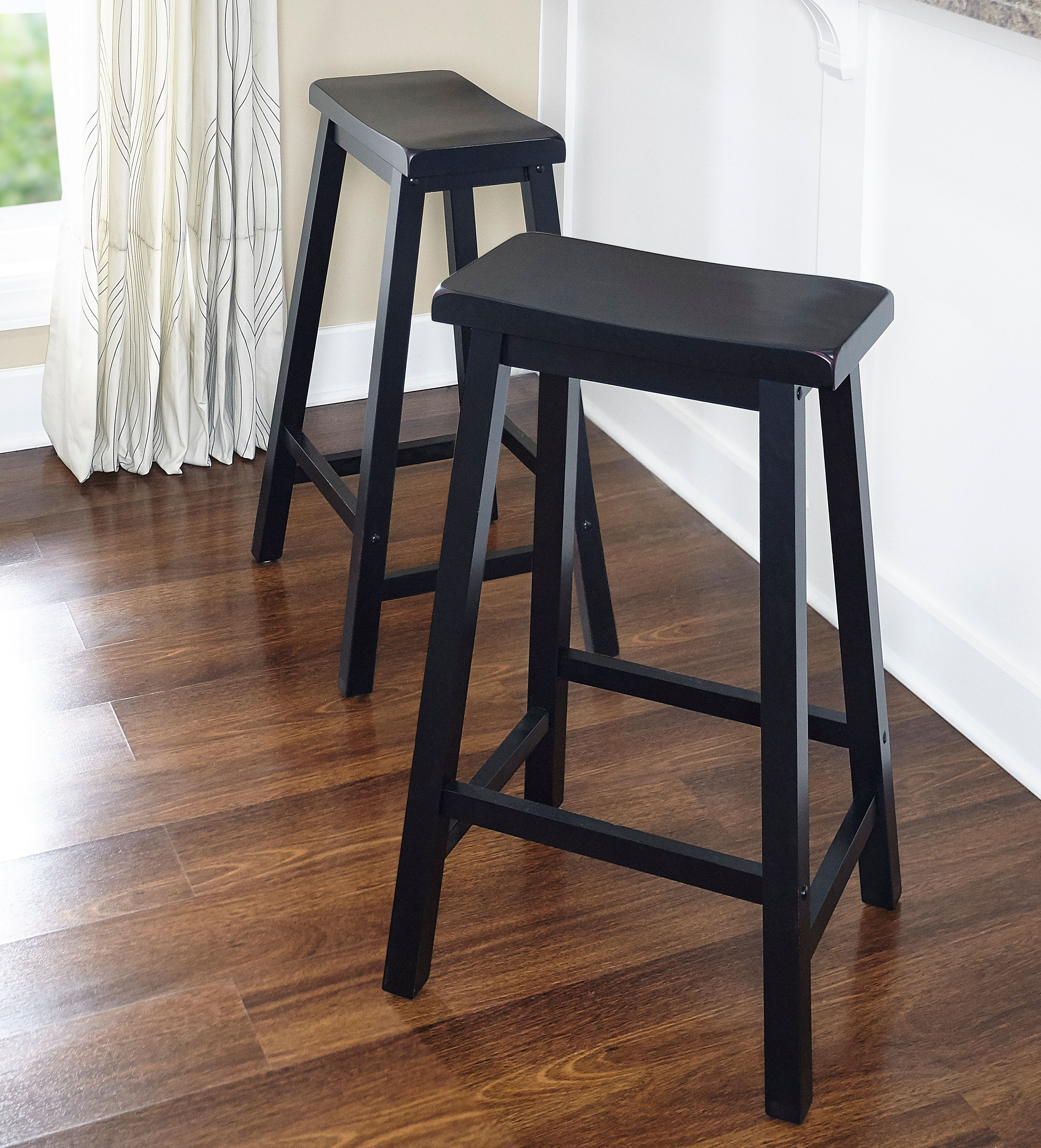 """Powell """"Antique Black"""" with Sand Through Terra Cotta Bar Stool, 29"""" Seat Height by Powell Furniture"""