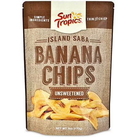 Sun Tropics Island Saba Thin Banana Chips Unsweetened 3.5oz, -