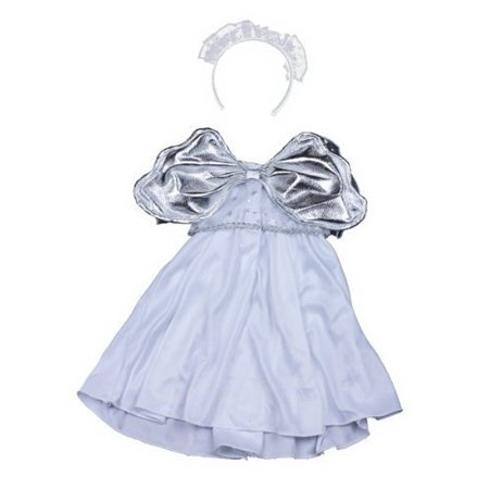 Silver Angel Dress Teddy Bear Clothes Outfit Fits Most 14