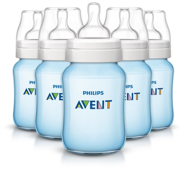 Philips Avent Anti-colic baby bottles Blue, 9oz, 5pk, SCF405/57