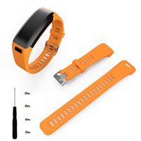 Fashion Sports Silicone Band Strap + Tool For Garmin Vivosmart HR BK