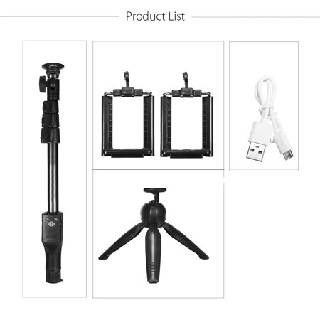 3-IN-1 Extendable Selfie Stick 16''-47'' + h Remote Control Shutter + Handheld Monopod Tripod Mount for iPhone X, 8 7 6S, for Samsung Galaxy Note 8 S9/S8/S7 - image 8 de 9