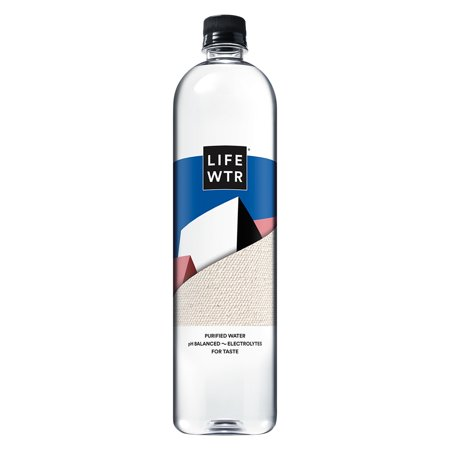 LIFEWTR, Purified Water, pH Balanced with Electrolytes For Taste, 1 Liter Bottle (Packaging May