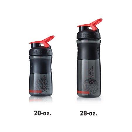 blenderbottle sportmixer tritan grip shaker bottle, black/pink, 28-ounce (Sport Mixer)