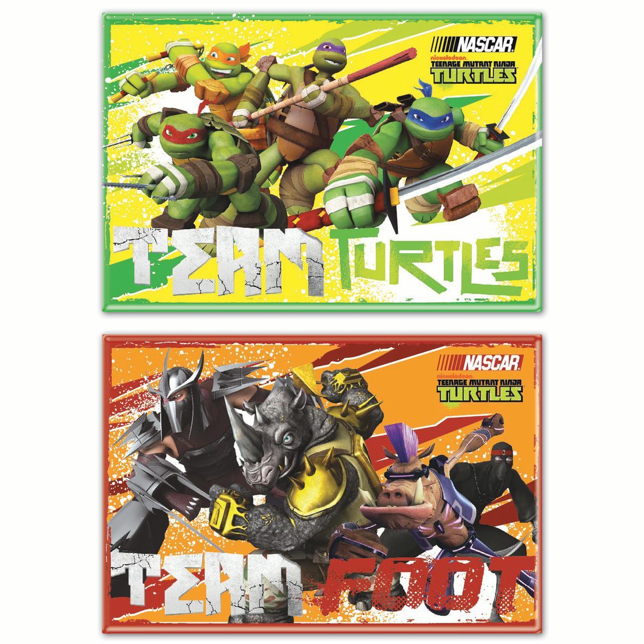 "Nascar WinCraft Teenage Mutant Ninja Turtles 2"" x 3"" 2-Pack Car Magnet Set No... by WINCRAFT INC."