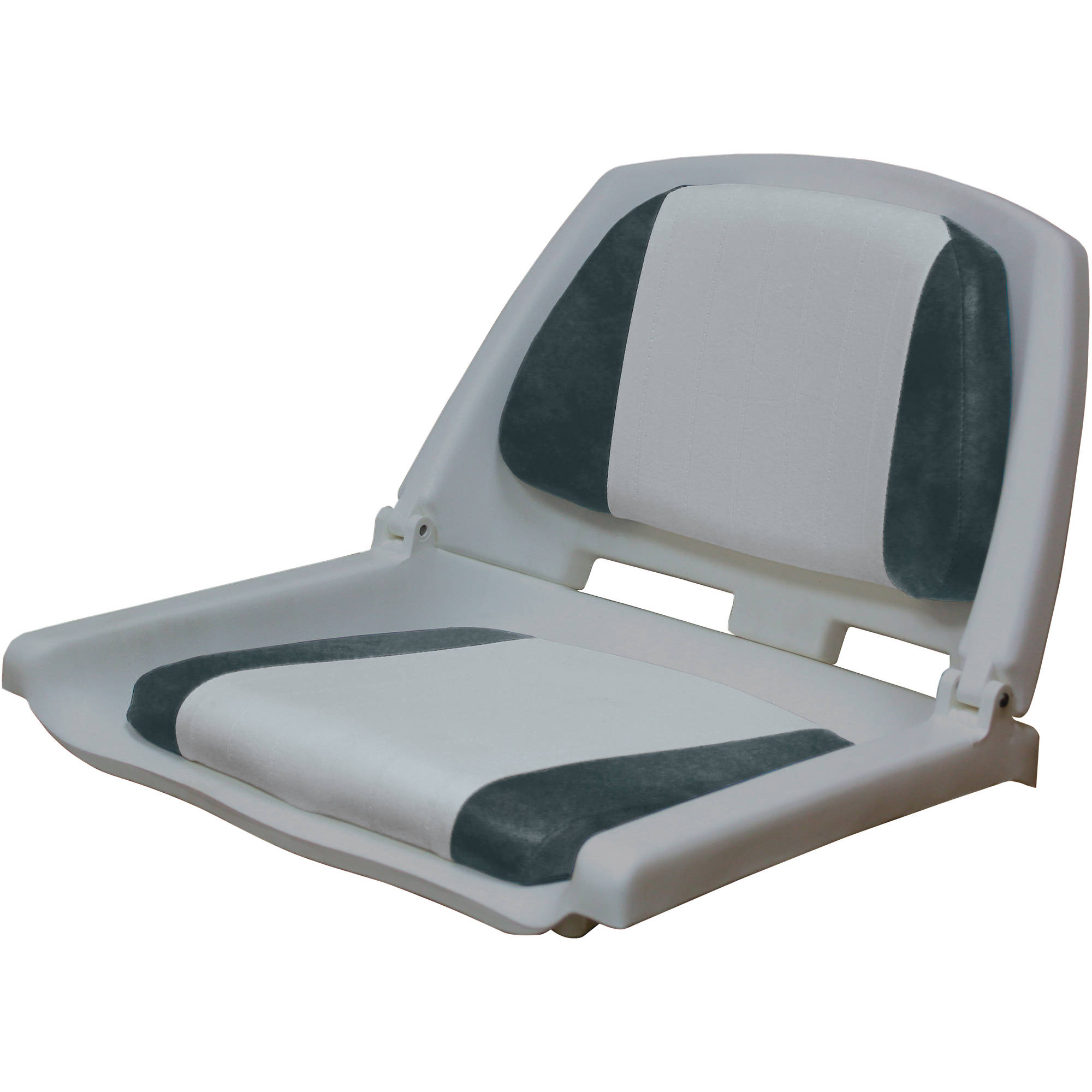 Wise Contour Molded Plastic Seat with Thick Embossed Vinyl Cushion Pads