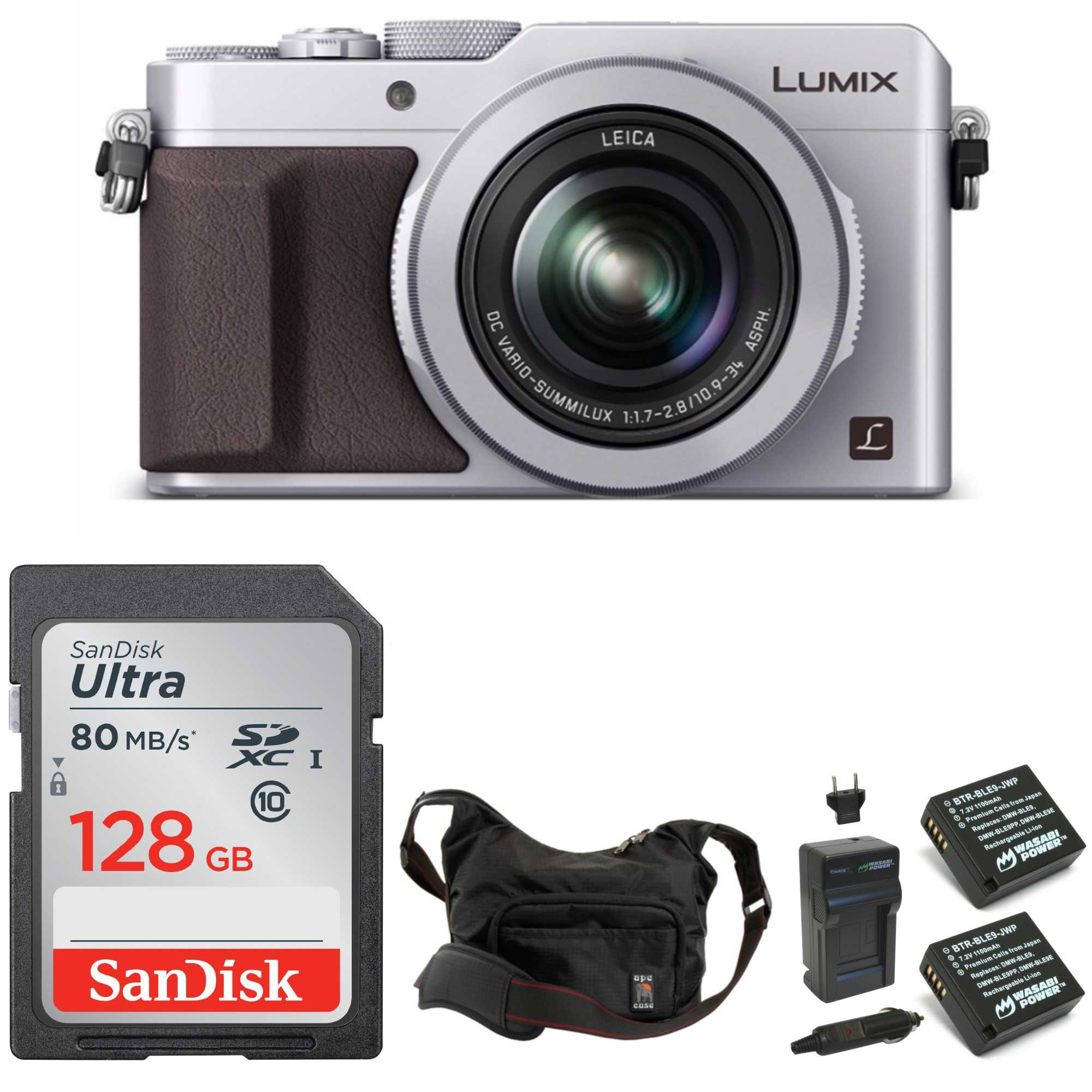 PANASONIC LUMIX LX100 (Silver) 4K Point and Shoot Camera Professional Bundle