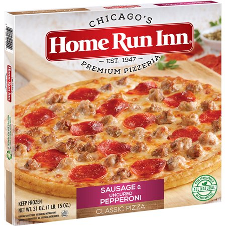 Home Run Inn Classic Sausage Uncured Pepperoni Family Size Pizza 31 Oz