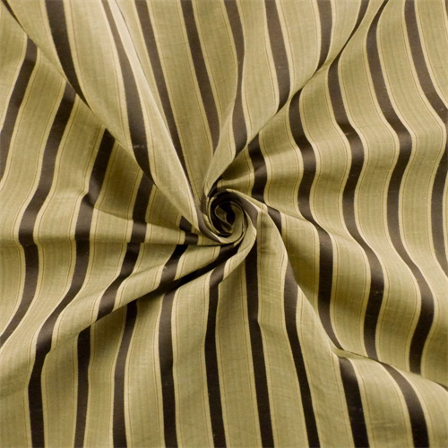 Olive Beige/Multi Shantung Stripe Drapery Fabric, Fabric By the Yard