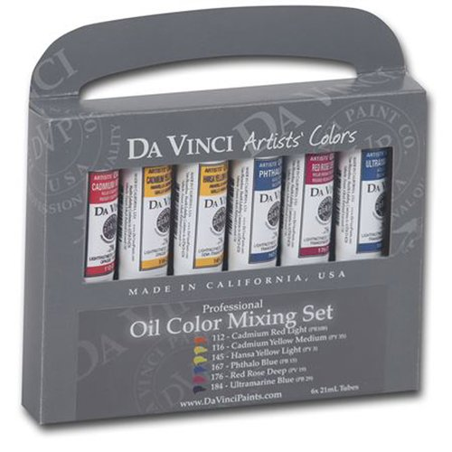 Da Vinci Paints Oil Color Paint (Set of 6)
