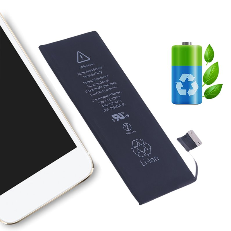 10 Pcs Mobile Phone 1560mAh Li-Ion Battery Replacement Internal Battery 5S