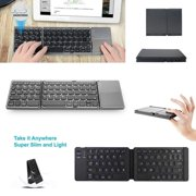 Fashion Universal Foldable Bluetooth Keyboard With Touchpad USB Charging Cable Wireless Keyboard For IOS Android Windows PC Tablets Smartphone
