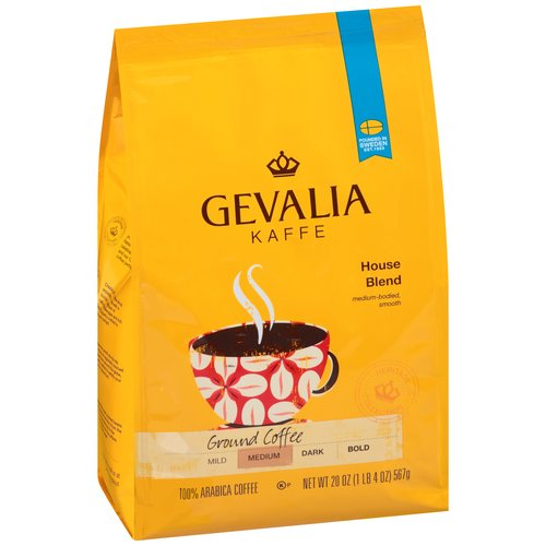 Gevalia Kaffe House Blend Medium Roast Ground Coffee, 20 Oz