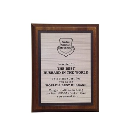 Aahs Engraving Worlds Greatest Plaques (Best Husband In The Word, (Best Looking Offices In The World)