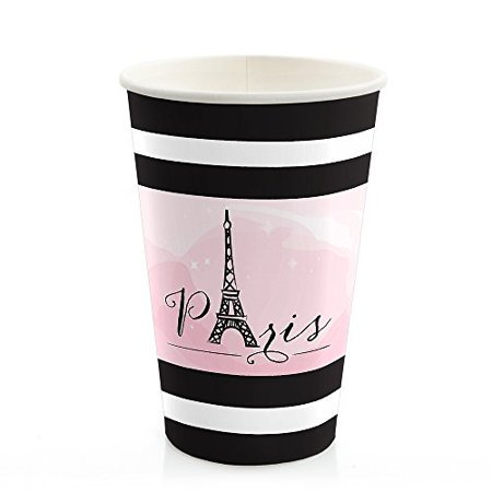 Paris, Ooh La La - Paris Themed Hot & Cold Drinking Cups (8 count)
