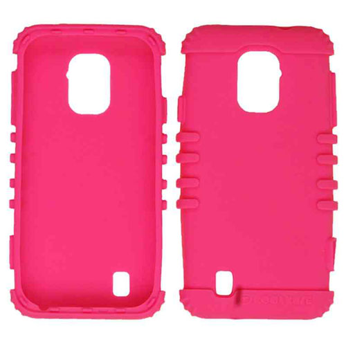 Cell Armor - Rocker Series Skin Protector Case for ZTE N9511 / Source - Fluorescent Magenta