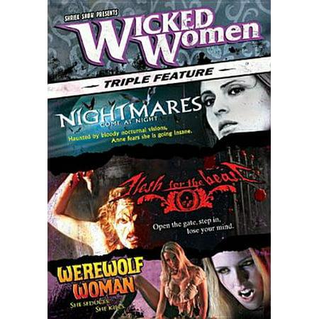 Halloween Horror Night Nightmares (Wicked Women: Nightmares Come at Night/Flesh for the Beast/Werewolf Woman [3)