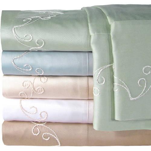 Veratex, Inc. Supreme Sateen 300-Thread Count Scroll Pillowcases, 2pk