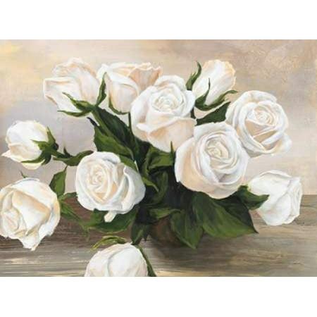 Vaso di rose Stretched Canvas - Silvia Mei (11 x 14)