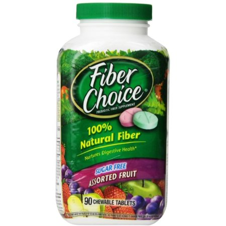 Fiber Choice Fiber Supplement Sugar Free Chewable Tablets   Assorted Fruit 90 Ea  Pack Of 2
