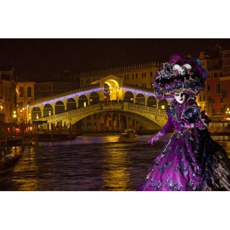 Elaborate Costume for Carnival Festival, Venice, Italy Print Wall Art By Jaynes Gallery - Italian Festival Decorations