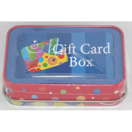 Tin Gift Card Holder Box Multicolor