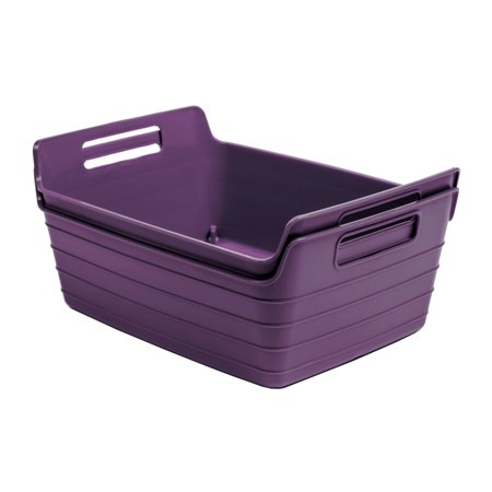 Mainstays 2pk Flex Bins Purple
