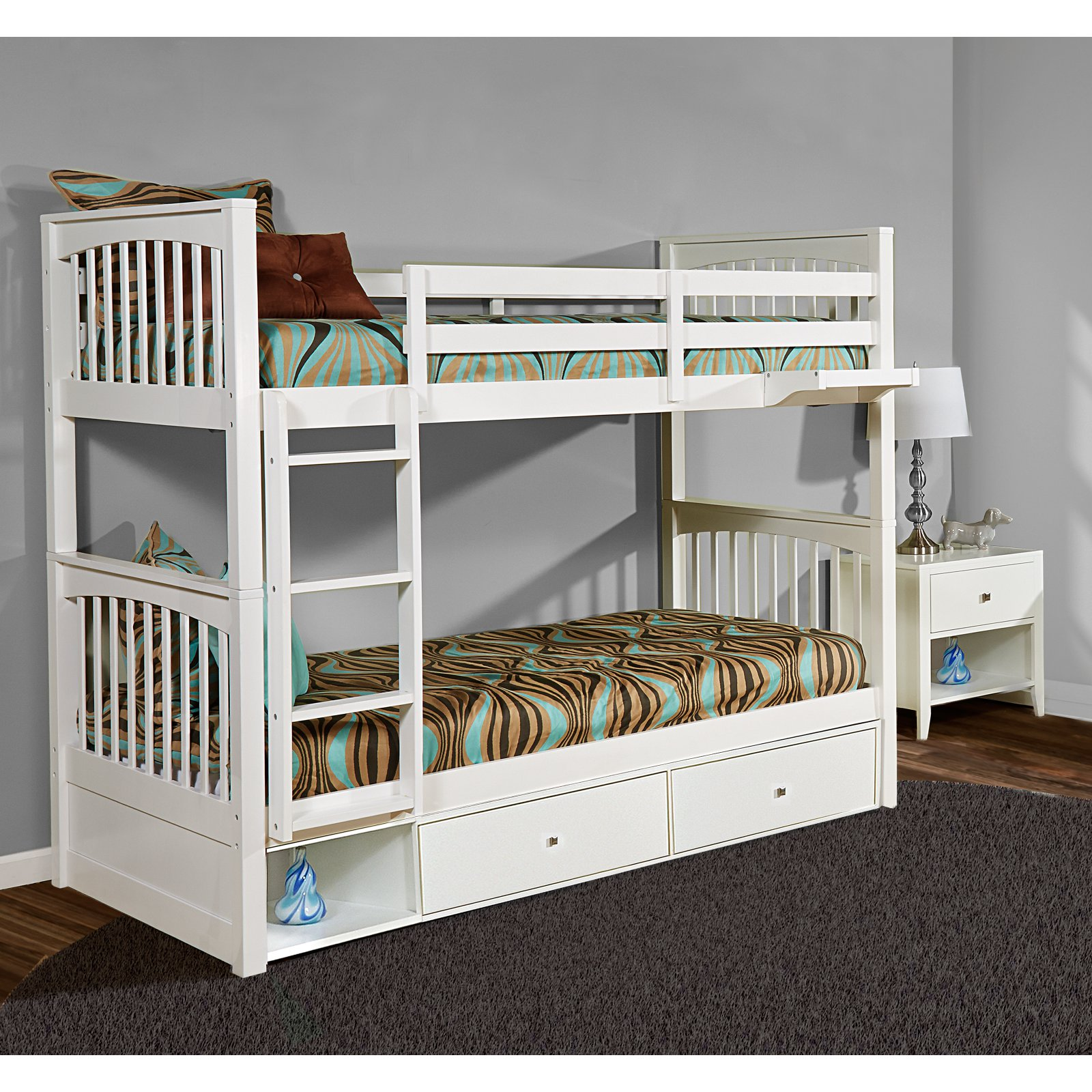 Hillsdale Pulse Twin Bunk with Storage, Multiple Colors