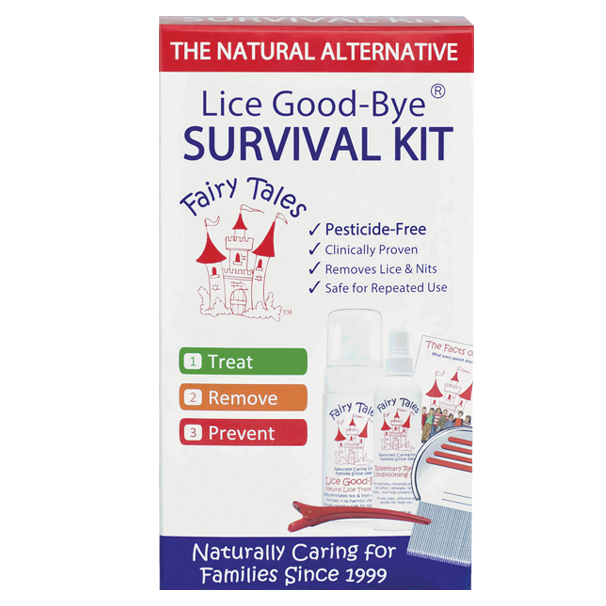 Fairy Tales Lice Good-Bye Survival Kit, 4 Ct by Fairy Tales Hair Care, Inc.