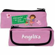 Personalized Dora the Explorer We Love School Pink Pencil Case