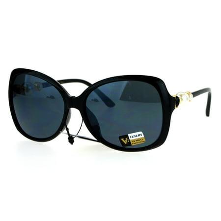 144bbe8b339b SA106 - Pearl Jewel Luxury Womens Oversize Butterfly Diva Sunglasses ...