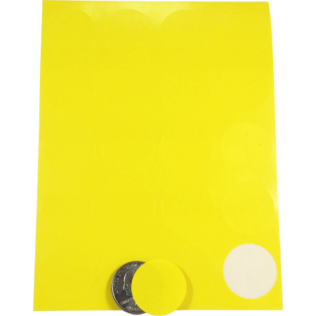 Color Coding Labels Yellow Round Circle Dots 1 Inch 10 Sheets 20 Labels 200 Total Adhesive Stickers