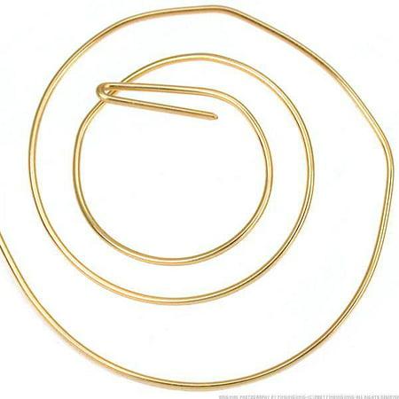 - 5 ft 14K Gold Filled Half Round Wire Half Hard 22 Gauge