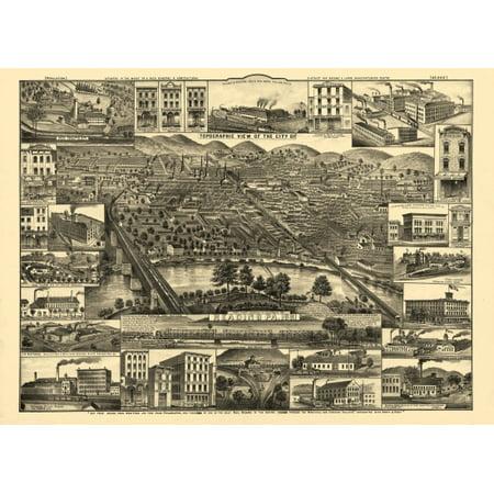 historic map of reading pennsylvania 1881 berks county canvas art 18 x 24. Black Bedroom Furniture Sets. Home Design Ideas