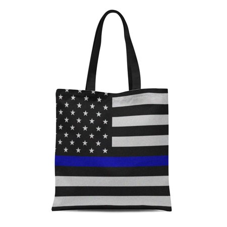 Blue Canvas Tote - ASHLEIGH Canvas Tote Bag Wife Thin Blue Line Flag Law Enforcement Police Policeman Reusable Handbag Shoulder Grocery Shopping Bags