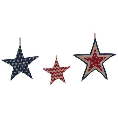 Transpac  Fabric  Multicolor 4th of July Patriotic Stuffed Star Set of 3 - 4th Of July Stuff
