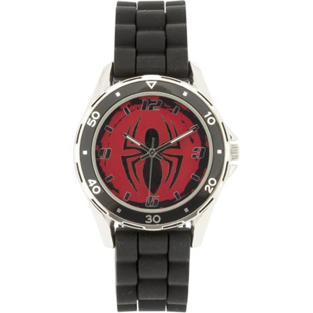 Spiderman black rubber watch for Spiderman watches