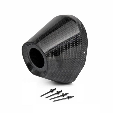 Pro Circuit PC4022-0003 End Cap for Ti-5/6 Exhaust System - 4.5in./1.5in. - Carbon -