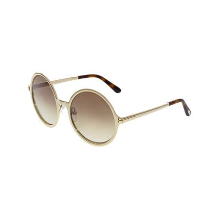Tom Ford Women's Gradient Ava FT0572-28G-57 Gold Round Sunglasses